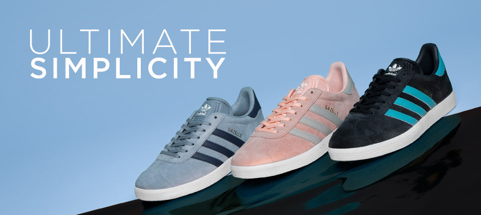 shop all womens and mens adidas Gazelle trainers at schuh >>