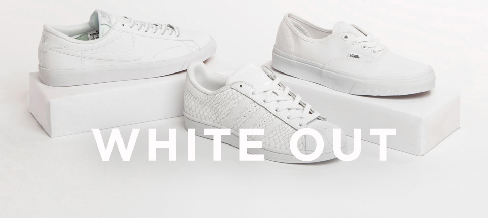 shop womens and mens all white trainers at schuh >>