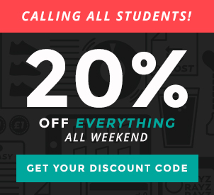 Student 20% Discout  All Weekend