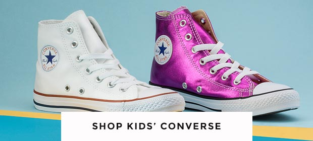 shop our range of kids converse including hi-top styles and more at schuh