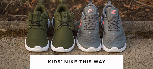 shop kids' nike trainers, including the roshe one and the air max thea at schuh