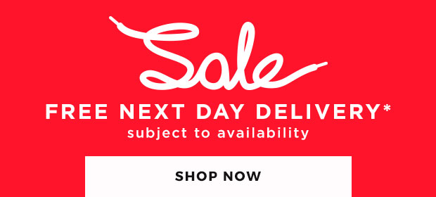 shop sale now & get FREE next day delivery for a limited time only!