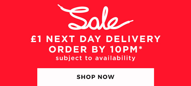 shop sale now & get £1 next day delivery for a limited time only - order by 10PM!