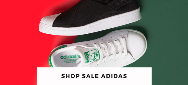 huge savings available across adidas trainers including the women's stan smith & superstar slip-on