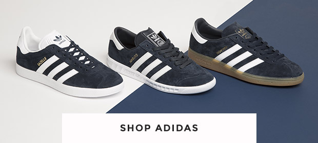 shop all mens and womens adidas trainers at schuh including the Gazelle, Munchen & Hamburg