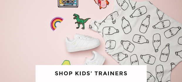 shop kids trainers including the all white adidas gazzelle at schuh
