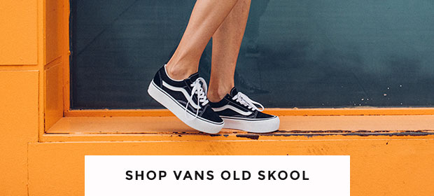 shop women's, men's and kids' vans old skool trainers including the platform at schuh