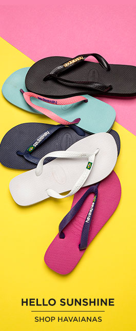 shop womens, mens & kids havaianas flip flops at schuh