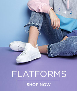 shop our range of women's flatforms at schuh