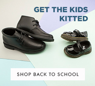 shop kids black leather school shoes at schuh from Clarks and Dr Martens
