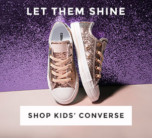 shop our full range of kids' converse including the all star ox glitter at schuh