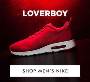 shop mens nike tavas in red at schuh