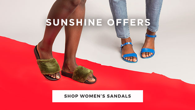 check out our women's sandals offers available from brands such as schuh, havaianas & more