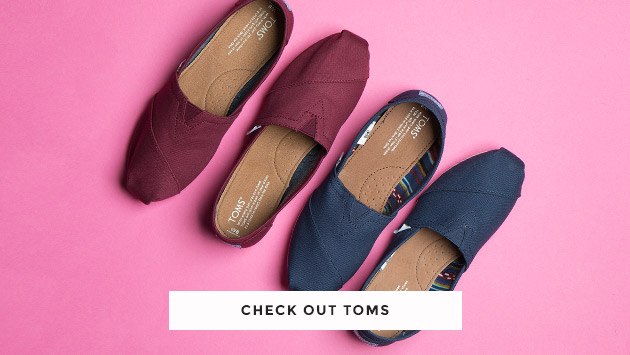 shop our range of men's, women's and kid's toms at schuh
