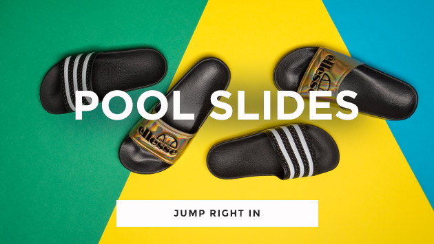 shop our range of pool slides, including the adidas adilette and the ellesse fillipo at schuh