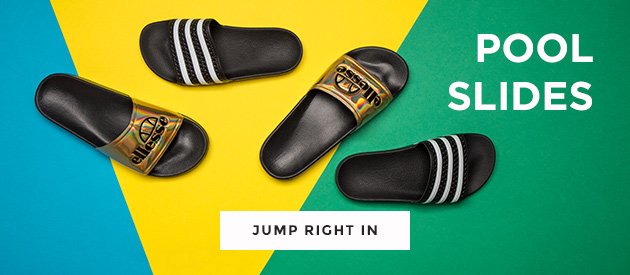 shop our wide range of pool slides, including the ellesse fillipo and the adidas adilette at schuh