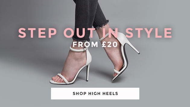 shop our range of women's high heels from £20 at schuh