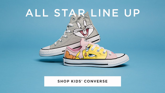 shop our range of kid's converse including the collaboration with looney tunes at schuh