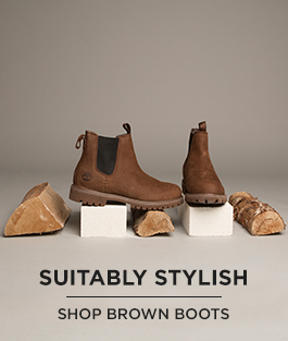 check out our men's brown boots from brands like timberland, now available at schuh