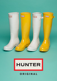 shop mens, womens & kids hunter wellies at schuh
