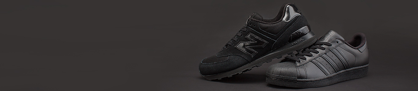 shop all black trainers at schuh