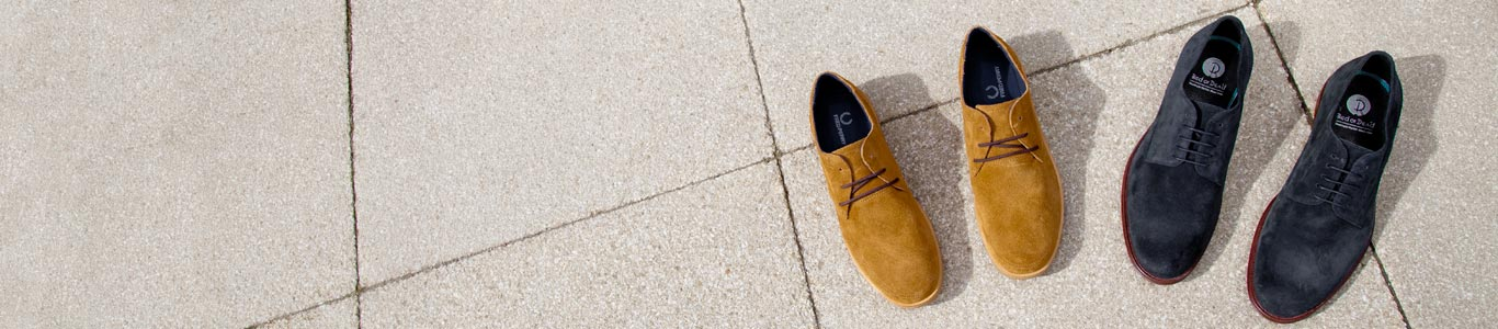 shop men's suede shoes including fred perry and red or dead at schuh