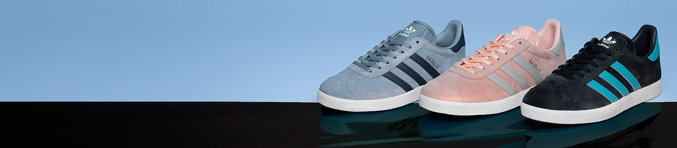 shop all womens and mens adiddas Gazelle trainers at schuh