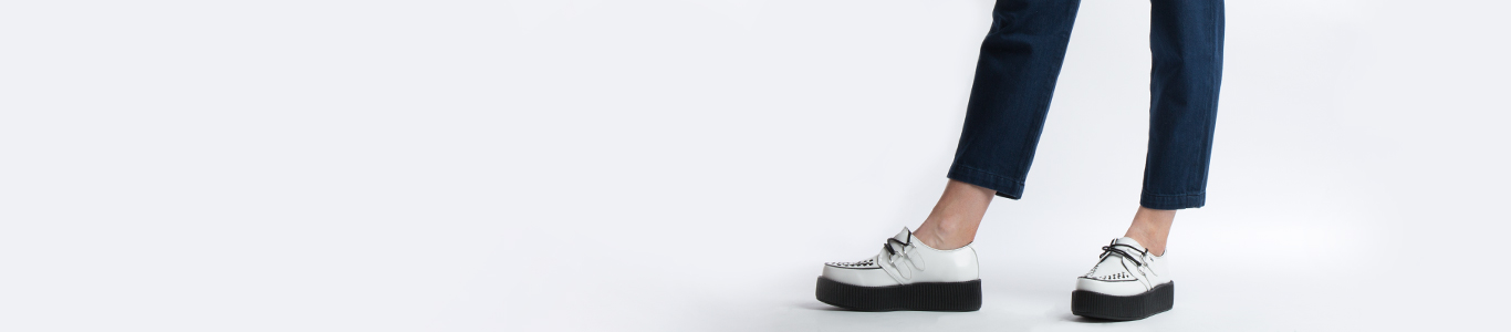 shop womens creepers at schuh from brands like T.U.K