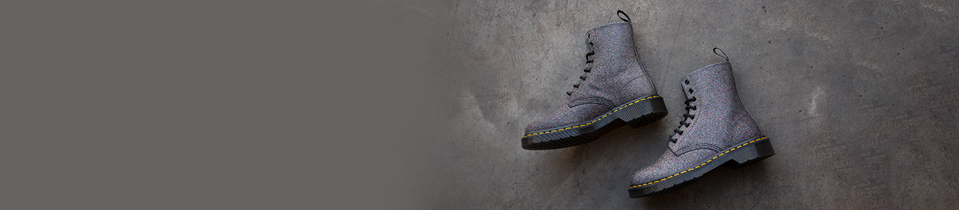 shop our full range of dr martens shoes and boots including the pascal 8-eye glitter at schuh