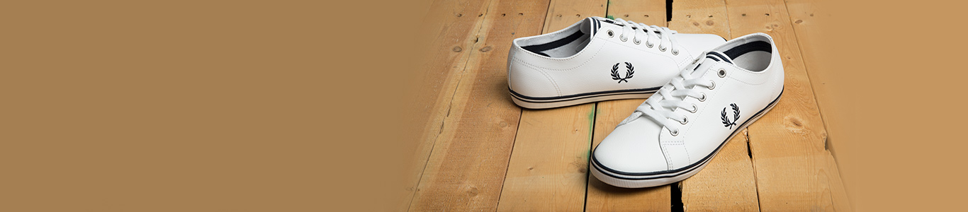 shop the range of men's & women's fred perry trainers and shoes at schu