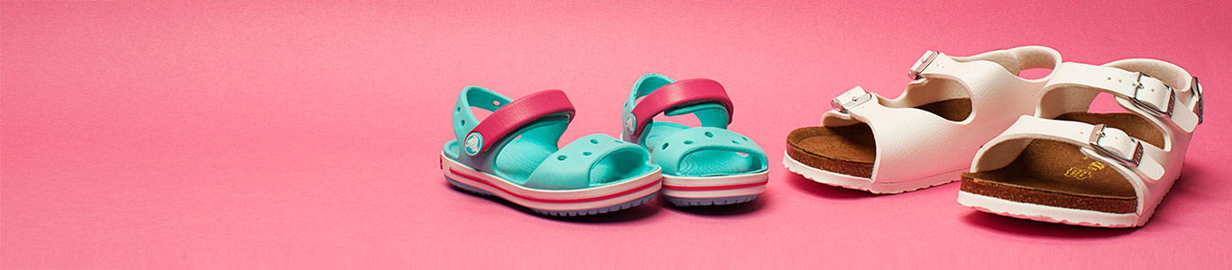 shop girls sandals at schuh from birkenstock to crocs and more