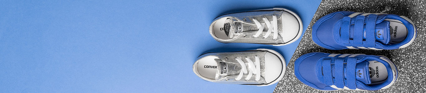 shop the full collection of kids' trainers, shoes & more from brands like converse & adidas