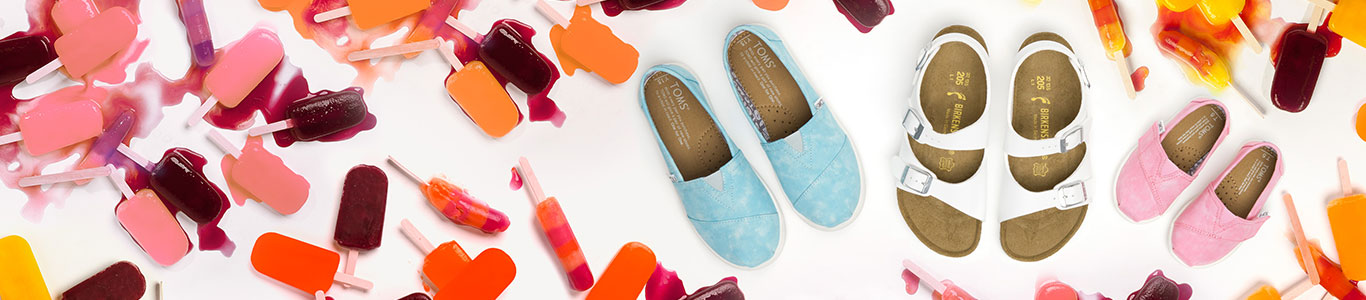 shop kids holiday shoes including birkenstock and toms at schuh