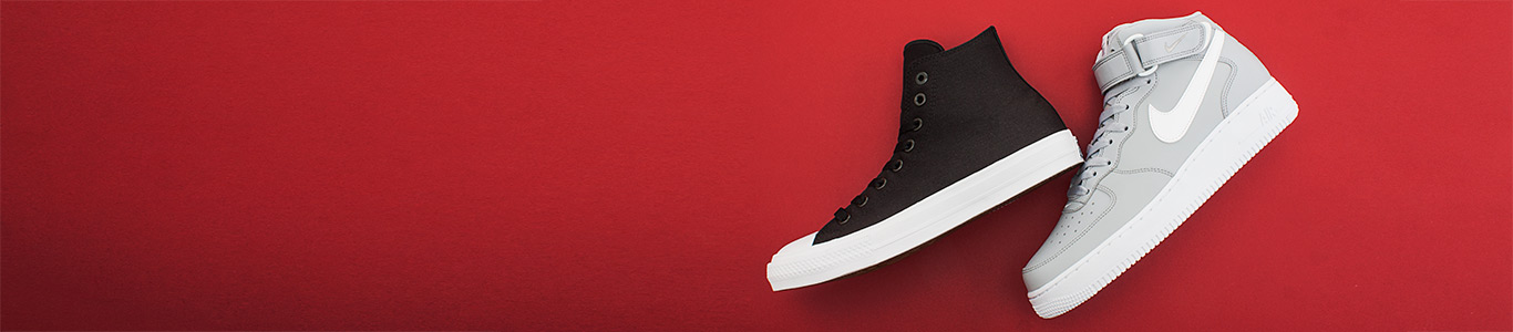 Shop men's hi-tops including converse and nike at schuh