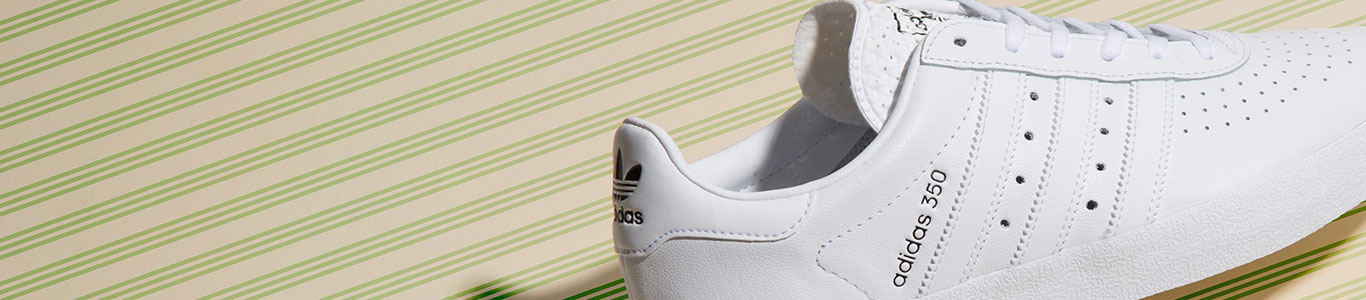 shop our full range of men's trainers, including the adidas 350 in white at schuh