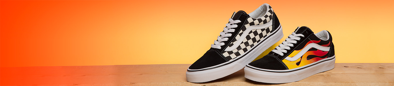 shop our full range of vans old skool including the flame and checkerboard packs at schuh