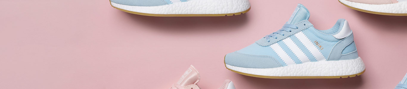 shop our range of women's pastel shoes and trainer including the adidas iniki in pale blue at schuh