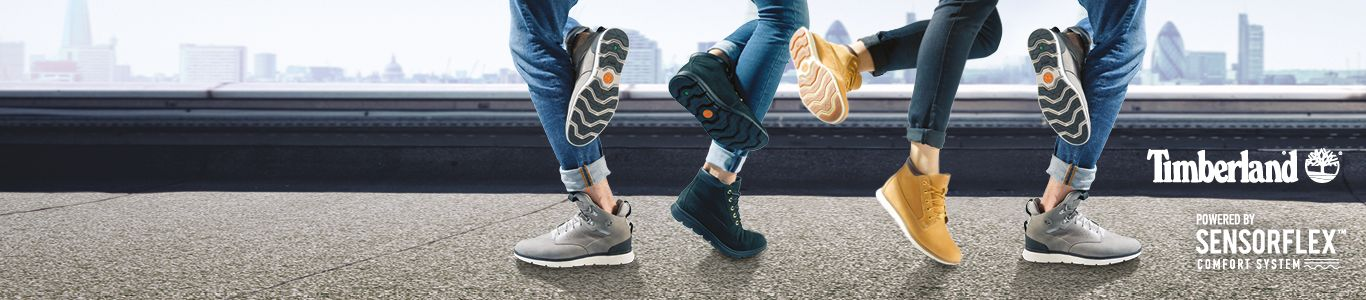shop men's and women's timberland boots powered by sensorflex comfort system at schuh