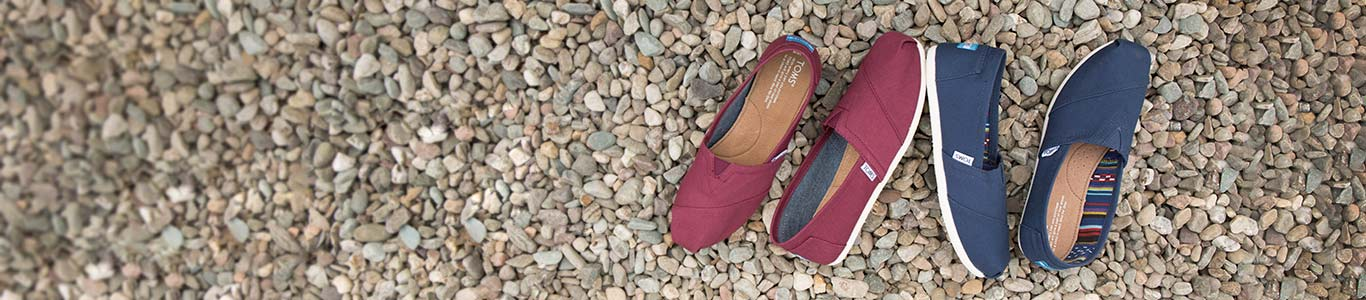 shop our range of women's, men's and kid's toms at schuh
