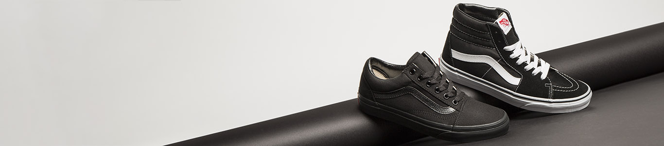 shop our range of men's black shoes, including men's trainers from brands like vans, available at schuh