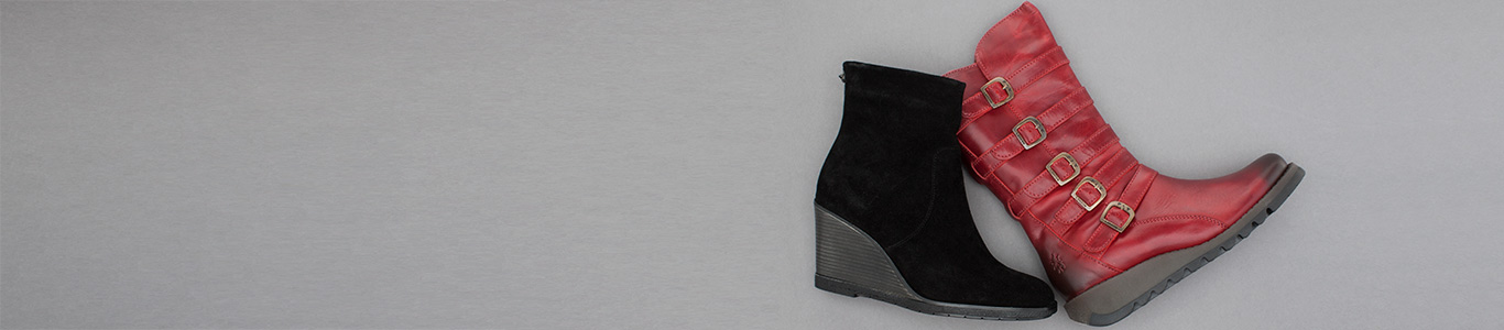 shop womens wedge boots at schuh from Fly London and more