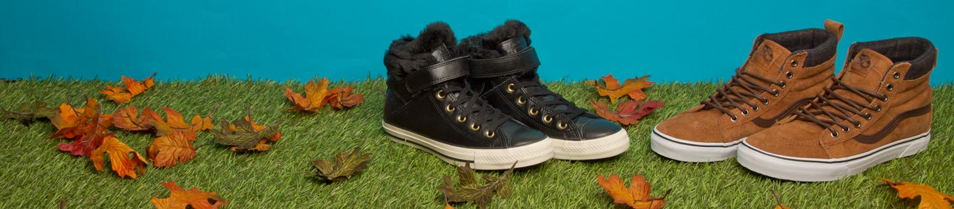 shop mens and womens winterised trainers from vans, converse and more at schuh