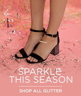 shop all womens glitter high heels and low heels at schuh