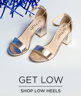 shop all womens low heels at schuh and get ready for the party season