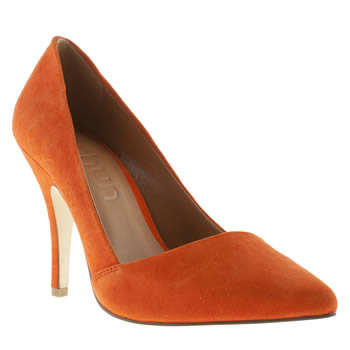 womens schuh orange mega babe high heels