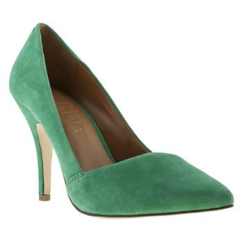 womens schuh green mega babe high heels