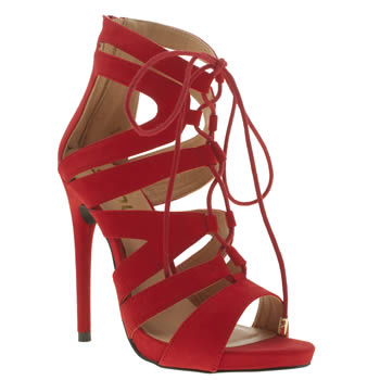 Womens Schuh Red Under Wraps High Heels