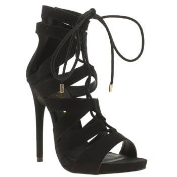 Womens Schuh Black Under Wraps High Heels