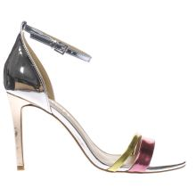 Schuh Silver & Pink Flashy Womens High Heels