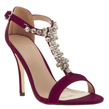 Womens Schuh Burgundy Miley High Heels